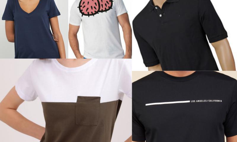 Kadın ve Erkek Tişörtlerinde Bol Çeşit